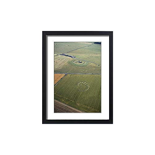 (Framed 24x18 Print of Stonehenge and Crop Circle N960002 (691705))