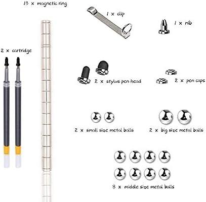Penna magnetica: Argento Cooler Penna magnetica meravigliosa penna a sfera magnetica penna a sfera Idea regalo divertente Penna magnetica penna Stylus Set regalo creativo