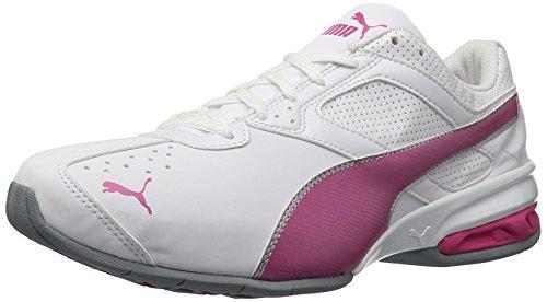 Chaussure De Cross-trainer Tazon 6 Wns Fm Puma Femme Blanc / Violet Fuchsia / Puma Argent