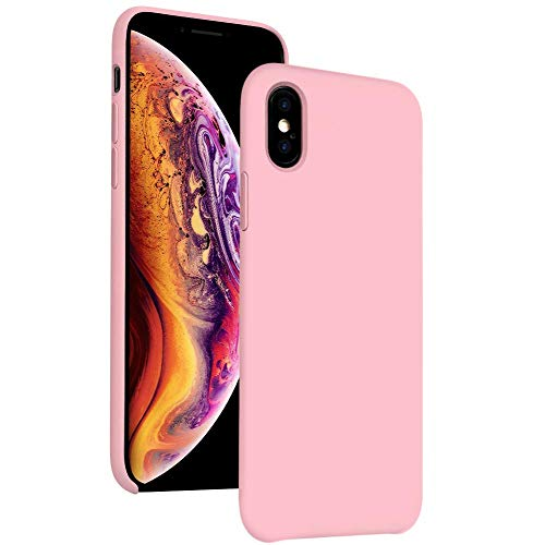 Silicone iPhone Xs Max Case 6.5 Compatible with Apple 2018 DIACLARA Gel Rubber Cases Bumper Shockproof Drop Protective Cover for Apple (Pink)