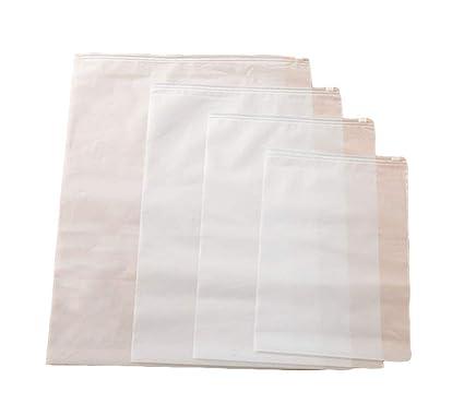 wdoit 10pcs impermeable transparente calcetines ropa interior sujetador bolsa de almacenamiento bolsa de ropa acabado equipaje