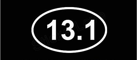 13.1 Half Marathon Bumper Sticker Vinyl Decal Runner Run Sticker Window Sticker Car Truck SUV Van Macbook Pro Sticker Laptop