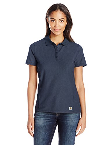 Carhartt Women's Contractor's Short Sleeve Work Polo, Navy, 2X-Large by Carhartt