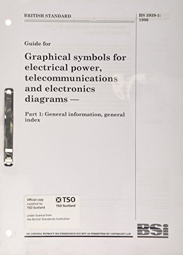BS 3939-1:1986 Graphical Symbols for Electrical Power, Telecommunications and Electronics Diagrams: General Information, General Index (Graphic Symbols For Electrical And Electronics Diagrams)