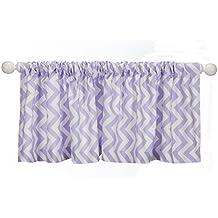 Sweet Potato Swizzle Window Valance, Purple/White