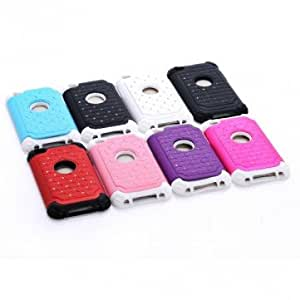 2 In 1 Babysbreath Protective Back Case Cover For iPod Touch 4 --- Color:Blue