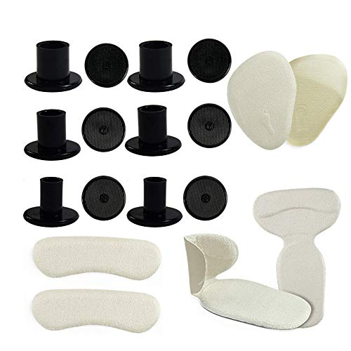 High Heel Protector Set of 18 Heel Shoe Cushion Collection Clear Heel Stopper Caps Heel Grip Cushion Pad Heel Shoe Insole for Grass Weddings & Outdoor Events with No Sinking(9 Pairs,Black) by MiMiLive