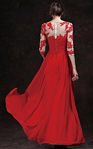 Vimans -  Vestito  - linea ad a - Donna rosso 52