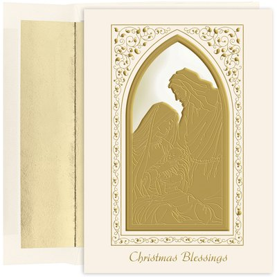 Masterpiece Studios Stationery (Holy Family Blessings Christmas Cards with Lined Envelopes by Masterpiece Studios -- Set of 18 Cards)