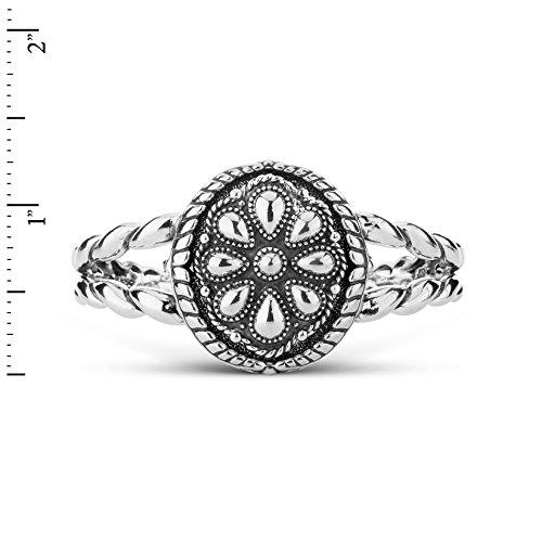American West Genuine .925 Sterling Silver Interchangeable Cuff Bracelet by American West (Image #1)