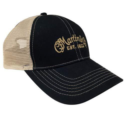 Martin Trucker Hat with Tan Mesh Black ()