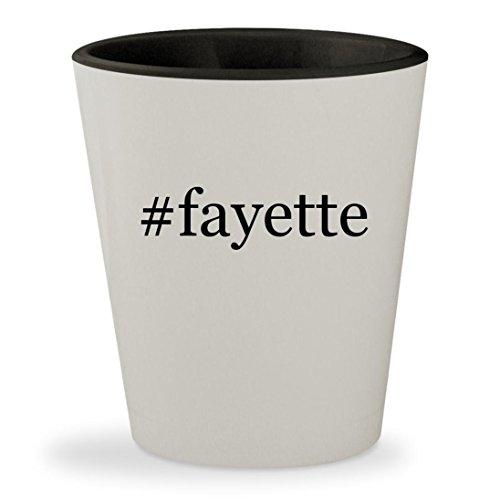 #fayette - Hashtag White Outer & Black Inner Ceramic 1.5oz Shot - Fayette Mall La