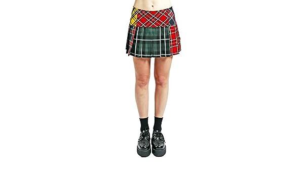 49d6c2790 Tripp Multi Plaid Punk Pleated Skirt at Amazon Women's Clothing store:
