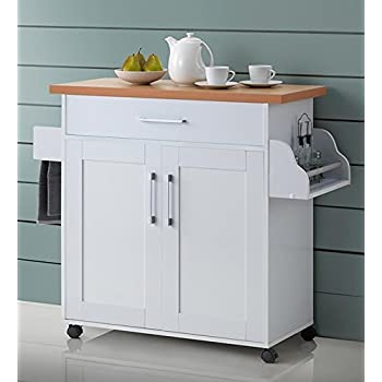 Winsome Mali Kitchen Cart White