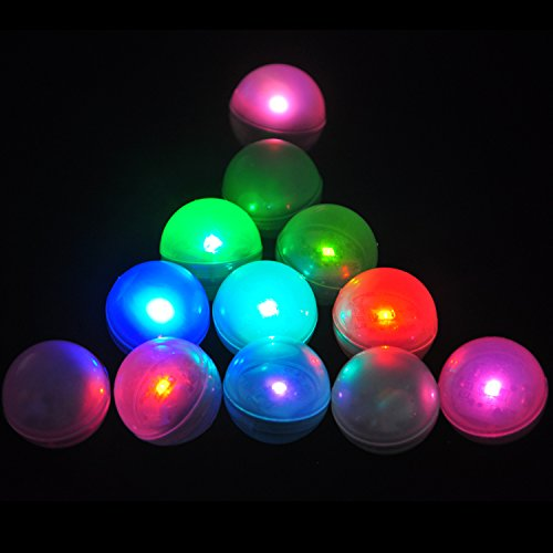 KITOSUN Magical Light Berry LED Ball Floating LED Vase Light Firefly Effect Glowing Pearl with Battery 3/4 diamter for Baby Shower Wedding Centerpiece Floral (Pack of 12) (Multicolors Fast Flash)