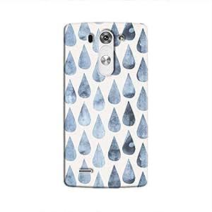 Cover It Up - Raindrops Print Denim LG G3 Hard Case