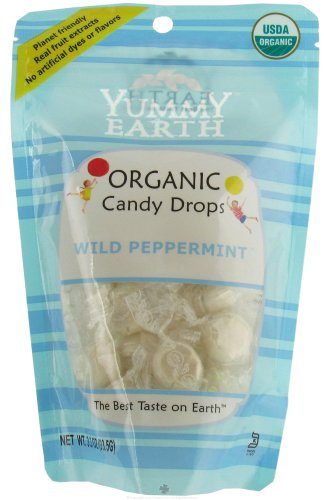 YumEarth Organics Variety Of Vitamin Pops, Drops and Snacks - The #1 Organic Candy in America (Wild Peppermint Candy Drops - 3.3 Oz)