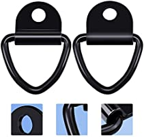 Dreamtop 4 Pack Cargo Tie-Down Anchors 2 Black Steel V-Ring Bolton Trailer Anchor Replacement for D Ring Tie Down Anchors Lashing Rings for Trailers Trucks Warehouses