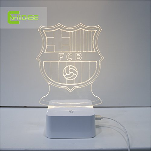 CNHIDEE Limited Special Offer Engraved FC Barcelona Table Lamp D - Barcelona fc table