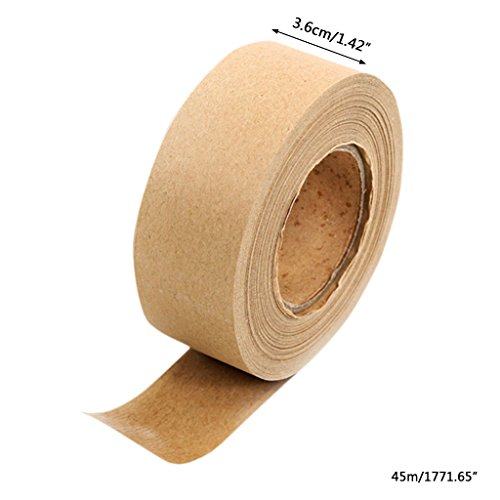 Qupida Brown Masking Tape for Picture Framing and Box Sealing 36mm Wide X 45m Long