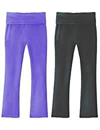 Clementine Apparel Girls 2 Pack Yoga Pants for Girls Leggings