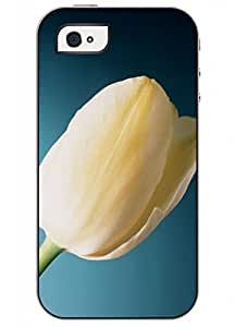 OUO Unique Fashion Design Snap on Iphone 4 4S 4G Hard Shell Case with Picture of Elegant Charm Tulip