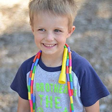 Beaded Playground Rope for Kids with Shatterproof Beads and Durable Plastic Handles BuyJumpRopes Segmented Kids Jump Rope