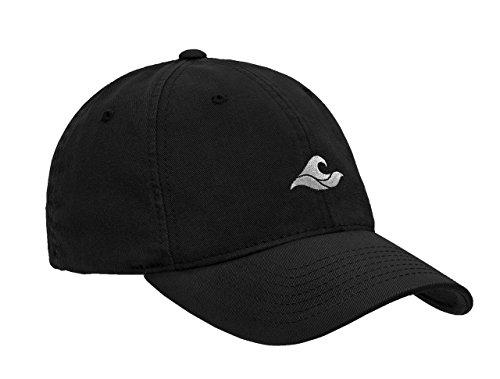 (Koloa Surf Wave Logo Soft & Cozy Dad Hats Cap-Black/w)
