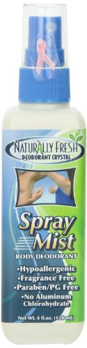Naturally Fresh Deodorant Crystal Spray Mist, 4-Ounce Bottles (Pack of 6)