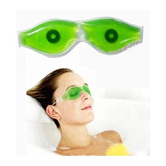 AR Eye Mask (6) ; Aloe Vera gel (insomnia & for relaxation & dark shade remover) & magnet: Value pack of 6 & 1 item free