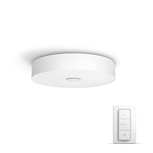 Philips hue white ambience fair dimmable led smart flush ceiling philips hue white ambience fair dimmable led smart flush ceiling light compatible with amazon alexa mozeypictures Images