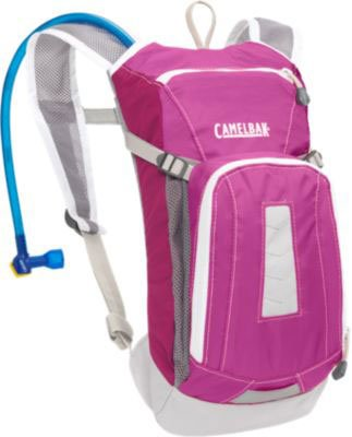 Camelbak Kid's Mini-M.U.L.E. Hydration Pack (50-Ounce/91 Cubic-Inch, Raspberry Swirl), Outdoor Stuffs