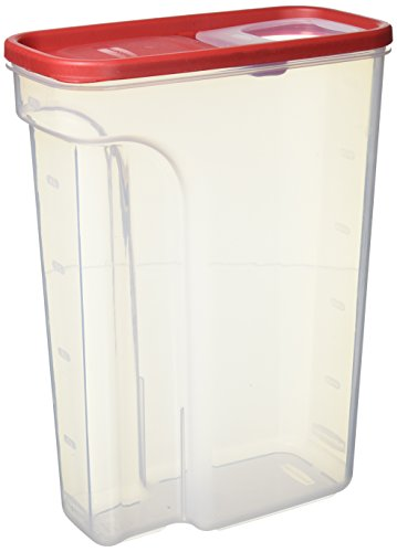 22 Storage - Rubbermaid Modular Food Storage Cereal Container with Flip Top, Large 22 Cup, Racer Red 1856060