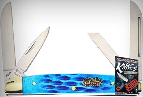 - Frost Cutlery FSW115DBJB Steel Warrior Congress Folding Limited Elite Knife Blue Handle Folder + free eBook by ProTactical'US