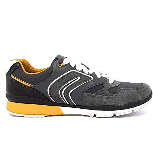 Sandford anthracite Geox Basses C9353 yellow A U Homme Gris Sneakers SWnTFW