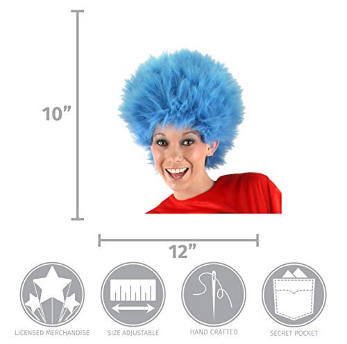 Elope Dr Seuss Thing 1 Thing 2 Blue Fuzzy Wig For Women   Men - Import It  All b2d90c52e8