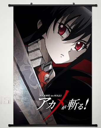 Wall Scroll Poster Fabric Painting For Anime Akame ga KILL Akame 038 S (Akame Ga Kill Mine)