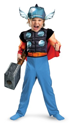 Thor Toddler Muscle Costume,Medium: 3T-4T