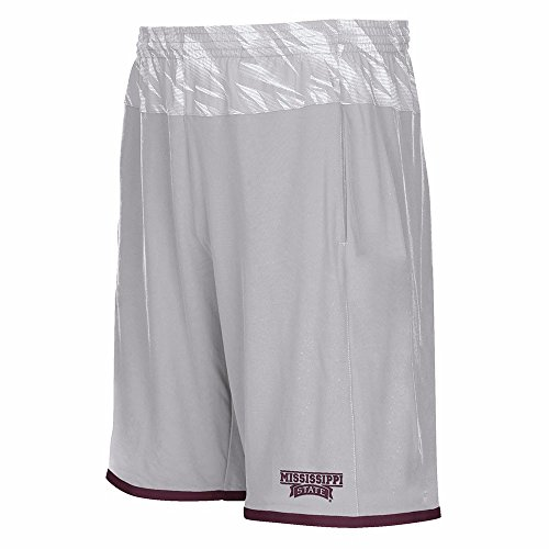 - adidas Mississippi State Bulldogs NCAA Men Grey Sideline Player Shock Energy Climate Shorts (3XL)