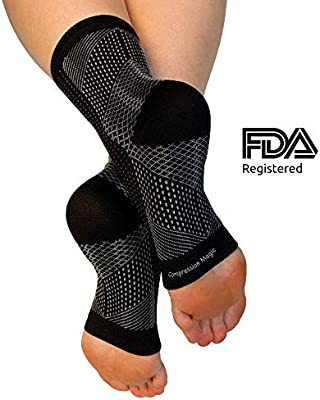 d4db934fd58a6 Compression Magic (1 Pair Foot Sleeves - Sock Supports That Relieve Pain and  Swelling in
