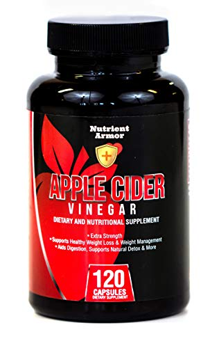 100 pct. Organic Apple Cider Vinegar Capsules 1500 mg Non-GMO Maximum Strength Supplements used for Detox, Weight Loss, Lowering Cholesterol, Managing Blood Sugar, Heart Health, Digestion, Made in USA