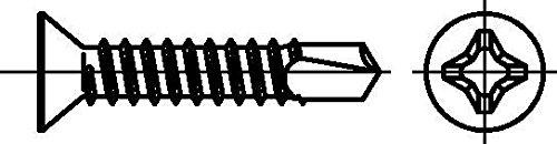 /Tornillos con cabeza avellanada Dresselhaus/ de perforaci/ón o de H, 4,8/x 60/mm, galvanizado, 500/unidades