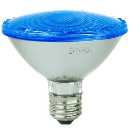(Sunlite 80021-SU PAR30/92LED/5W/B LED 120-volt 5-watt Medium Based PAR30 Lamp, Blue)