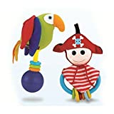 Baby Rattle And Teether Set - Pirate and Parrot