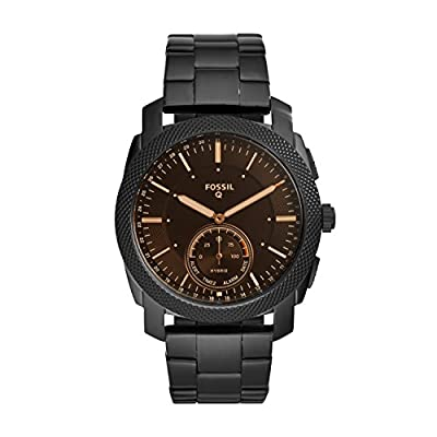 Fossil Q Men's Machine Stainless Steel Hybrid Smartwatch, Color: Black (Model: FTW1165) from Fossil Connected Watches Child Code