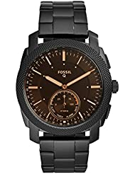 Fossil Q Men's Machine Stainless Steel Hybrid Smartwatch, Color: Black (Model: FTW1165)