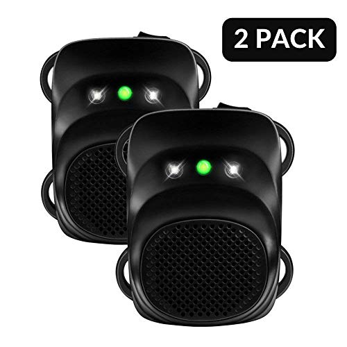 Loraffe Under Hood Animal Repeller Car Rat Repeller Rodent Repellent Ultrasonic Mouse Deterrent for 12V Vehicle Automobile Get Rid of Mice in Car Engine with Ultrasound and LED Flashlights, 2 Pack