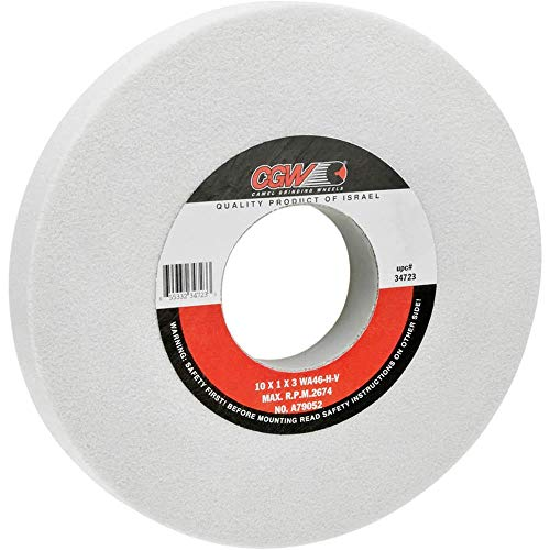 """Camel Grinding Wheels G7441 - A/O 10"""" x 1"""" x 3"""" Grinding Wheel, Friable, Type 1, 46 Grit"""
