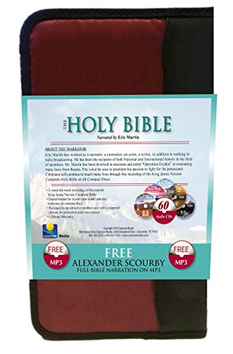 2 Complete King James Version Audio Bibles in one Product! -60 CD Discs Narrated by Eric Martin and 2 MP3CDs narrated by Alexander Scourby.All 66 ... ... Complete Old and New Testaments on 60 CDs by Casscom Media (Image #4)