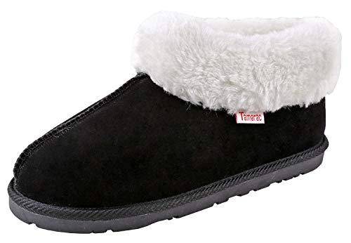 Tamarac by Slippers International Women's Leddi Slipper, 8 B(M) US Black